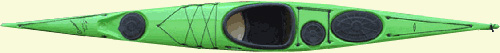 Green Current Designs Rumour sea kayak top view, by Nigel Foster