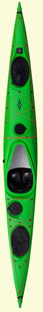 Top view of Whisky 16 Tourer in lime green